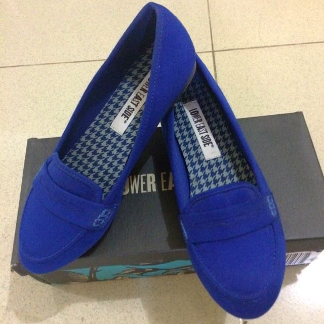 Flat Shoes Navy Blue Uk 38 Kecil
