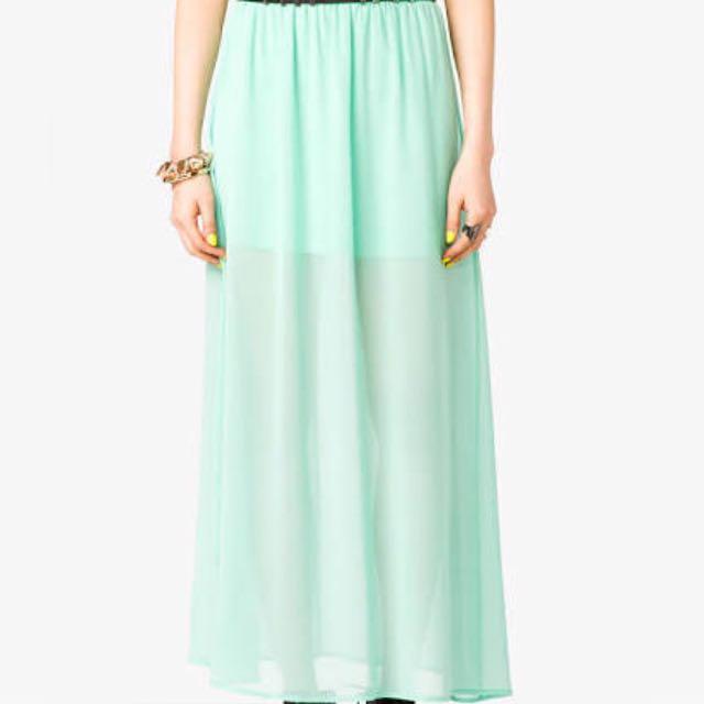 Forever21 Mint Sheer Skirt - XS