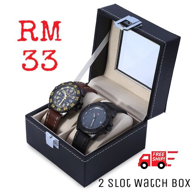 [Free postage] 2 Slot Watch Box