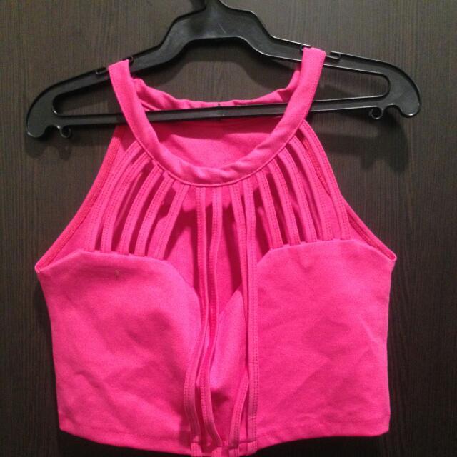 Fuscha Pink Crop top