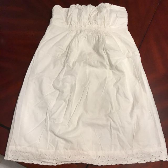 Garage White Strapless Dress