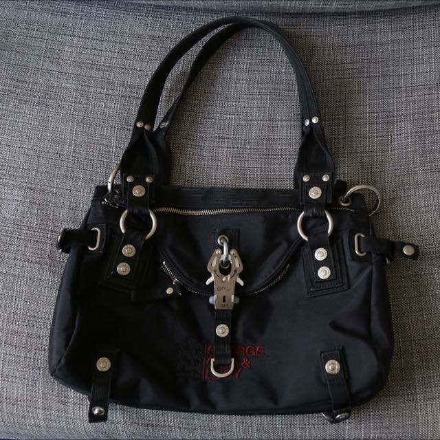 George Gina & Lucy handbag 'Double Date' in black
