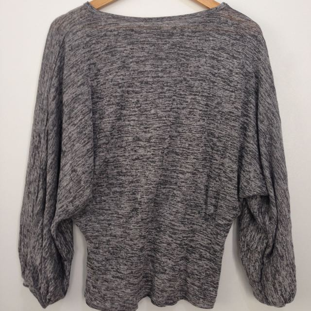 Gray Loose Top