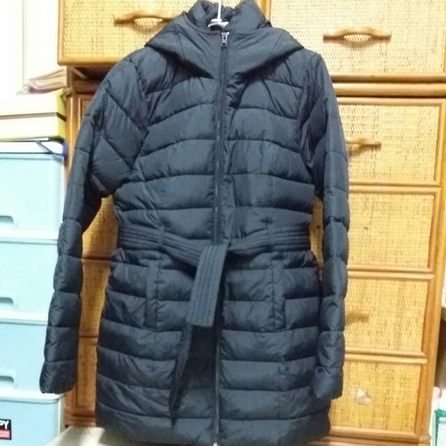 HOLLISTER黑色長版外套