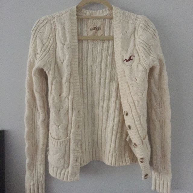Hollister Cardigan XS Off-white