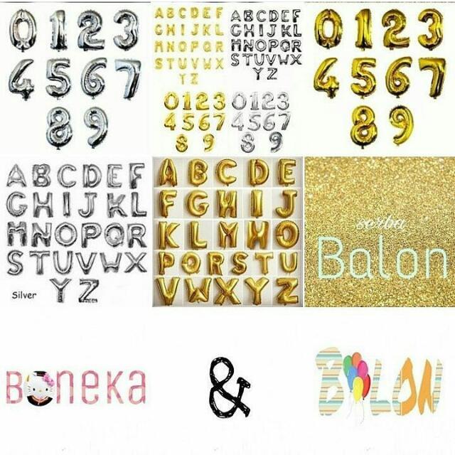 Jual Balon Foil Huruf Dan Angka Gold&silver