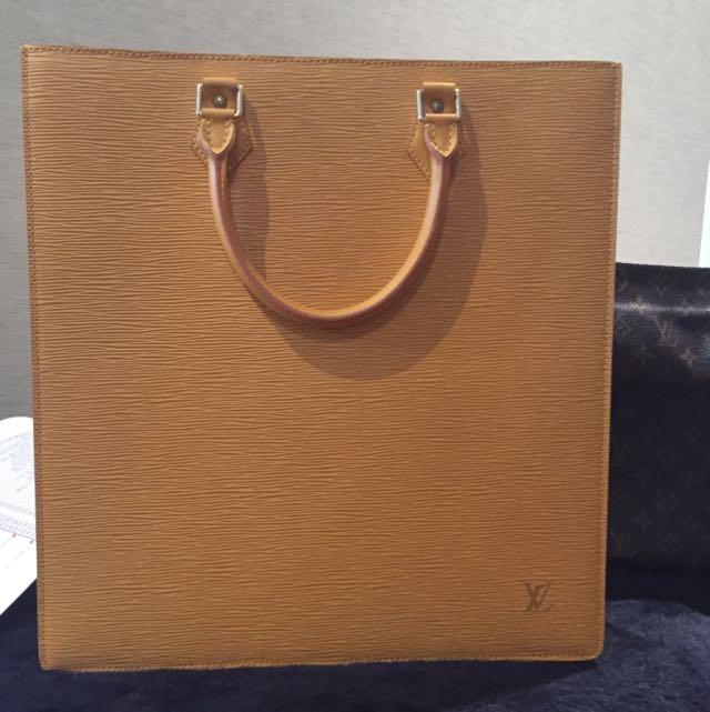Louis Vuitton Yellow EPI Leather Handbag