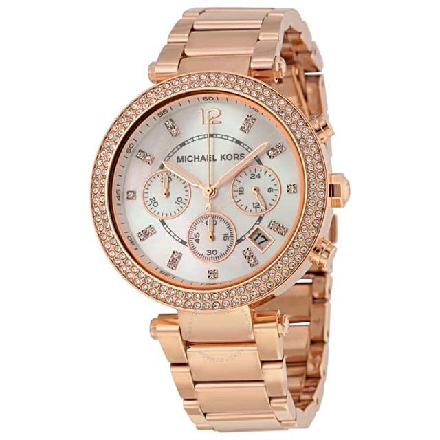 Michael Kors Women's Chronograph Parker Rose Gold Watch