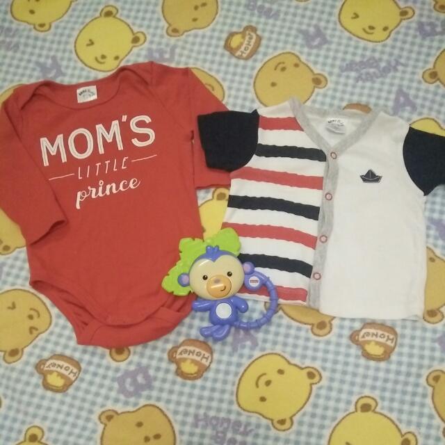 MIKI BABY Newborn Rompers & Shirt 0-3m
