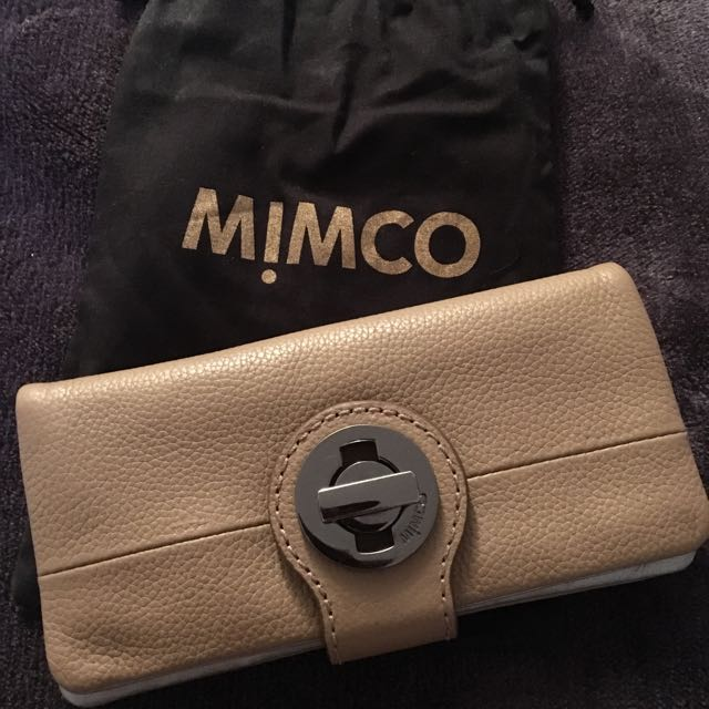 Mimco Tribute Wallet-Donkey In Colour