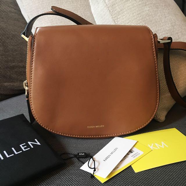 New KAREN MILLEN Tan Satchel Bag