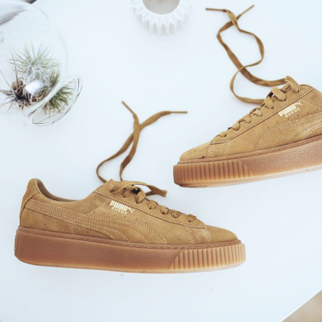 check out 1c97f 846f4 NEW] Puma Suede Platform Creepers Oatmeal Tan Brown, Women's ...