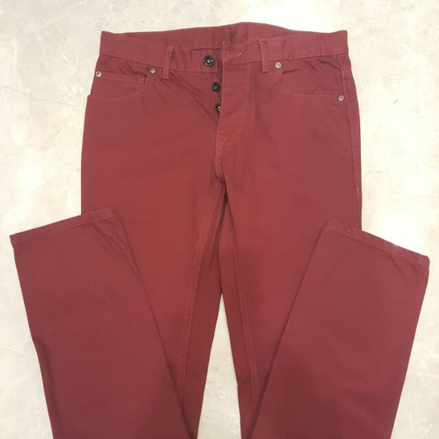 Next Maroon Pants Size 30 Authentic