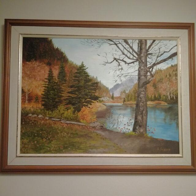 Painting Of Vancouver's Besutiful Nature In Fall By S.Sagnon