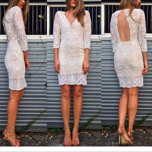 Petal And Pup White Lace Dress