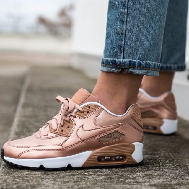 super populaire ef484 69ab7 PO) Nike Air Max 90 Rose Gold (GS), Women's Fashion, Shoes ...