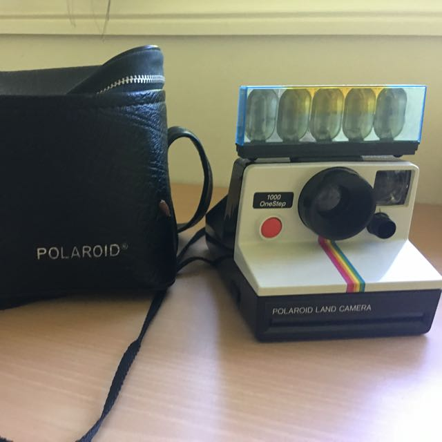 Polaroid One Step Land Camera 1000 With Original Case