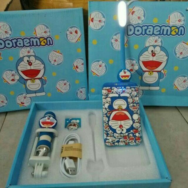 Powerbank Dan Aksesoris Handphone Paket Box Doraemon, Mobile Phones & Tablets, Mobile & Tablet Accessories on Carousell