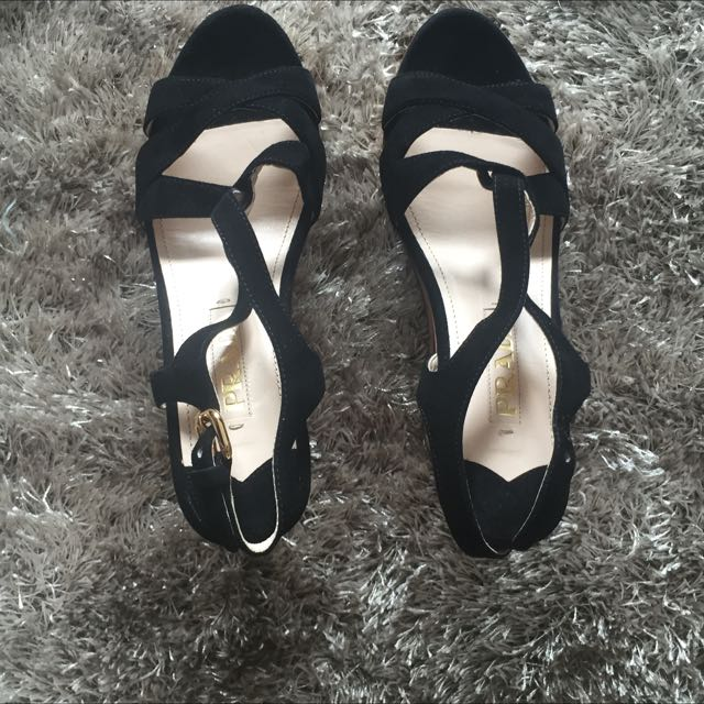 Reprice !!! Prada  Black Wedges