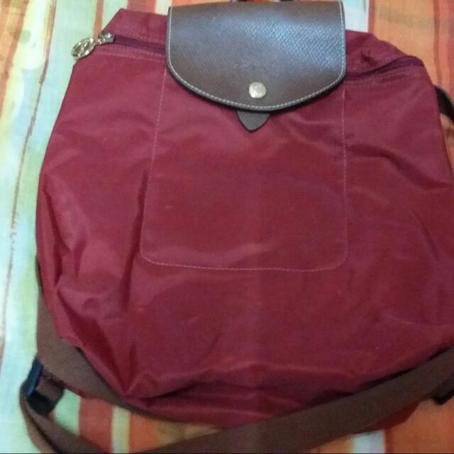Preloved Authentic Longchamp Backpack
