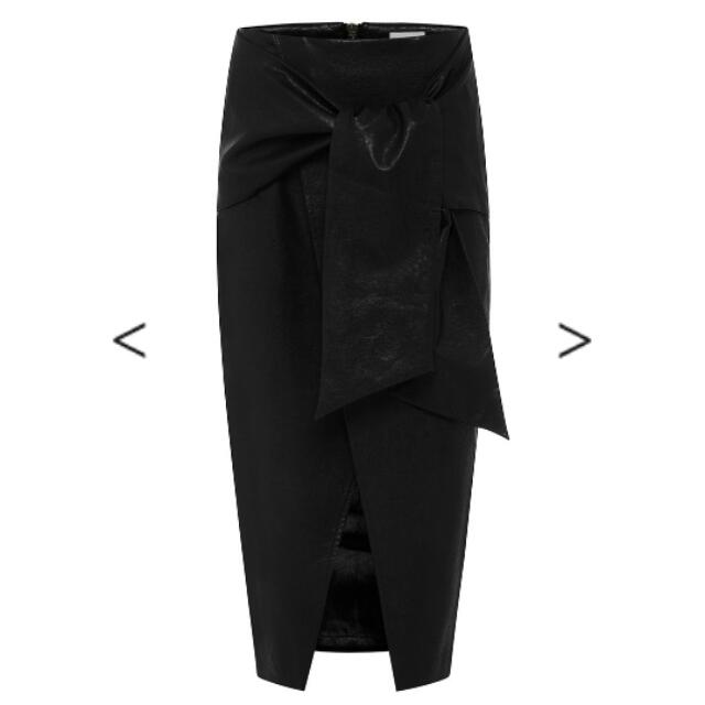 Sheike PU Leather Midi Skirt Size 8