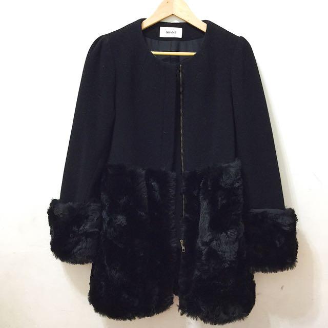 snidel 黑色大衣