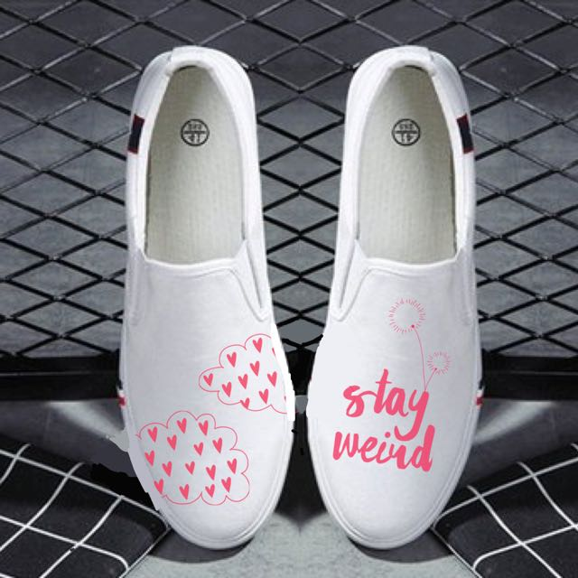 Stay Weird | Hand Painted Shoes