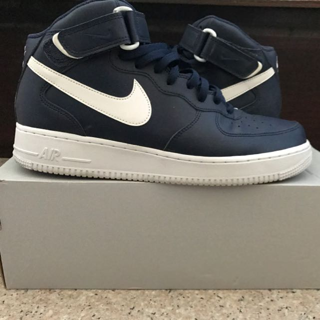 new style 069b5 8231c STEAL! Air Force 1 MID Midnight Navy Size11!, Men s Fashion ...