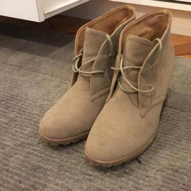 REDUCED Suede Ankle Boot Wedges