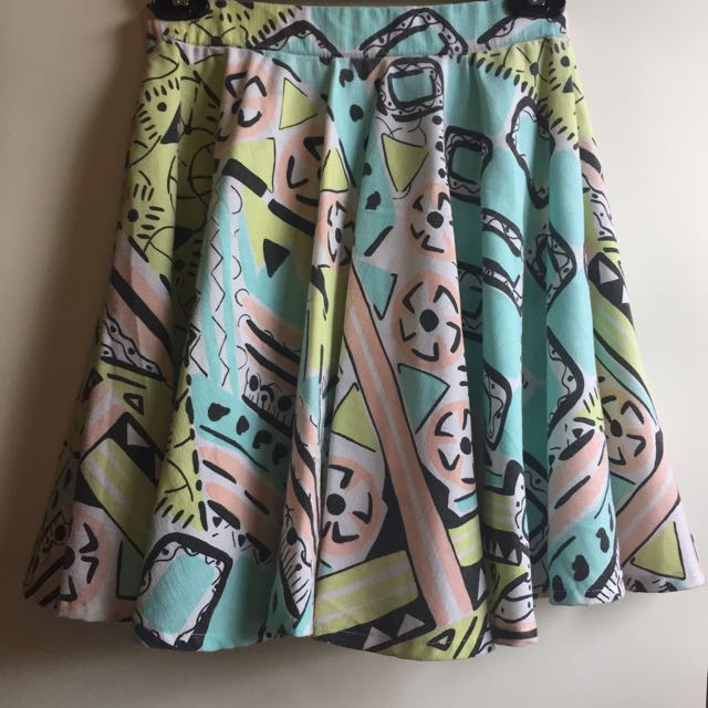 Undernourished Manila Printed Round Skirt - S