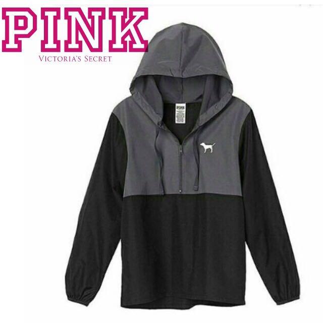 Victoria Secret PINK half Zip anorak jacket