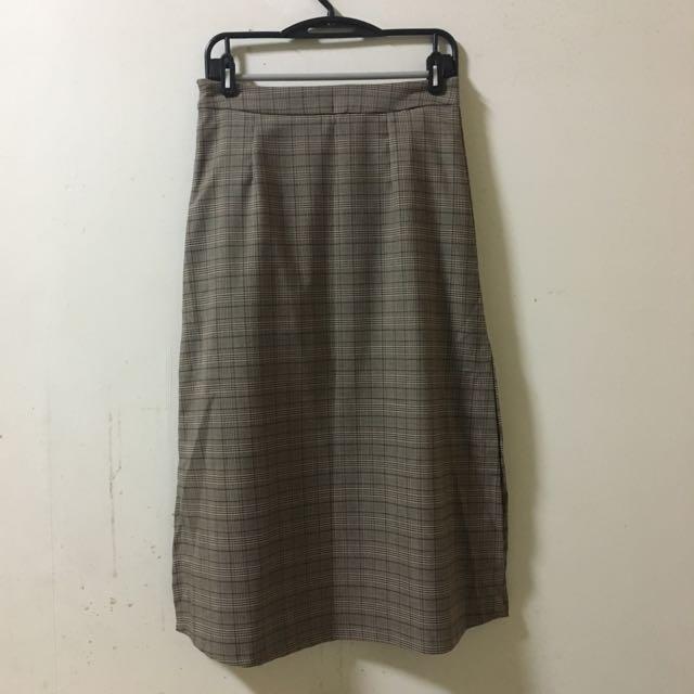 X.O.X.O 復古格紋裙 M