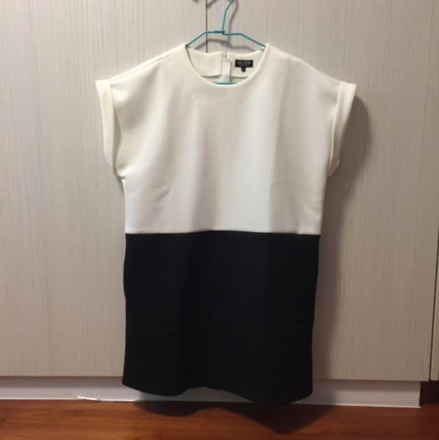 ZALORA太空棉連身裙