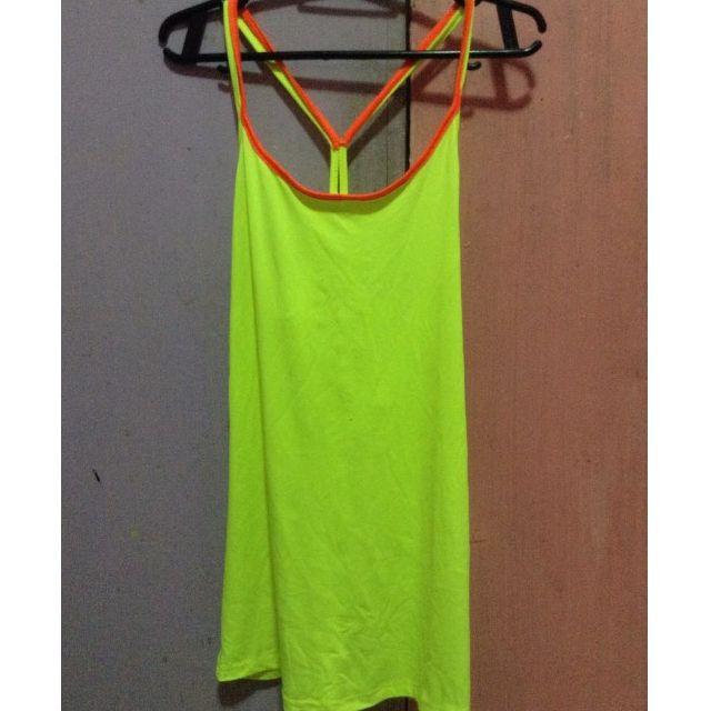 ZARA yellow green top