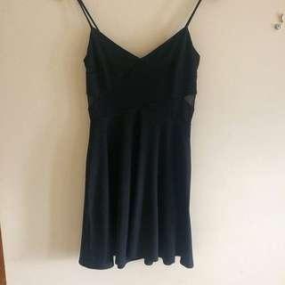 UK2LA Black Mesh Back Dress