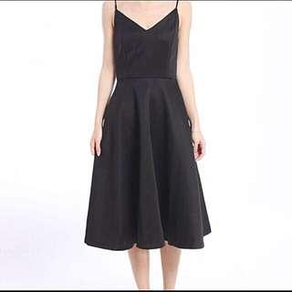 SALE!! Brand New / BN withour tags Black Midi Neoprene Dress