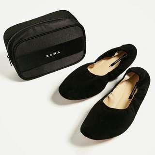 Zara Leather Foldable Ballerinas