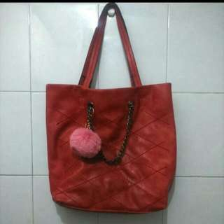 Peach Tote Bag / Hand Bag