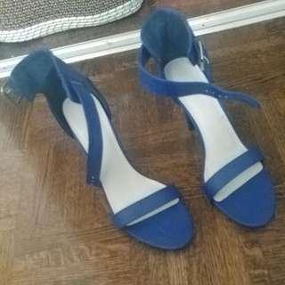 Le Chateau Blue Strap Heel