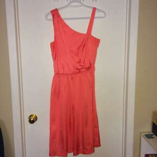 Coral Satin H&M Dress