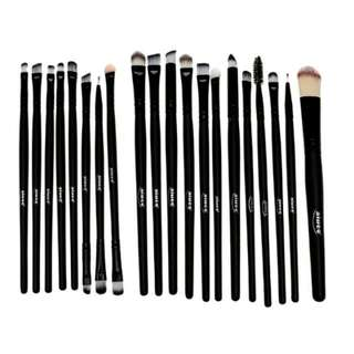 AIUEO Foundation Eyeshadow Eyeliner Lip Makeup Brushes and Applicators Cosmetic Tool Soft - 20 Buah