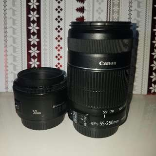 Canon Lenses Bundle (50mm & EFS55-250mm)