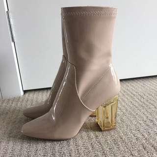 Pale Pink PVC Boots