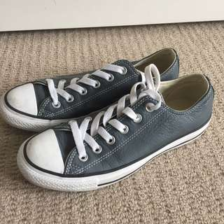 Converse Grey Leather Low
