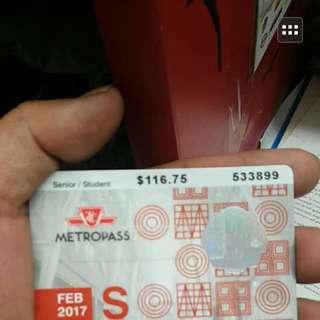 Student And Senior Metro Pass