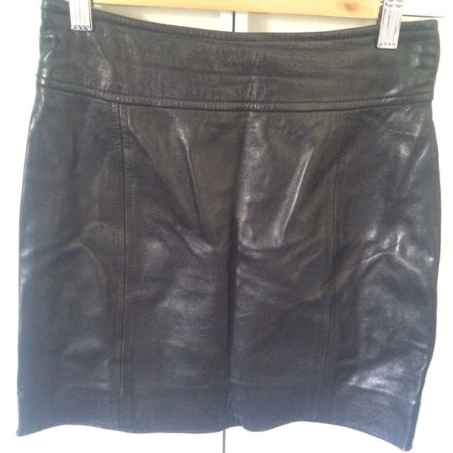 100% Leather Skirt