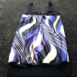 Semi Formal Purple And Black Cream Dress
