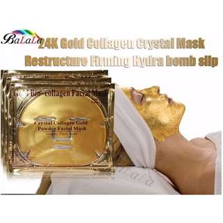 2X 24K GOLD BIO COLLAGEN ANTI AGING FACE MASK - OVER 100,000 SOLD - Clearance Sale (FREE DELIVERY)