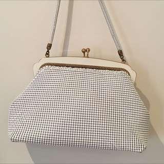 Park lane Vintage 40's Genuine Ladies Cream Mesh Handbag