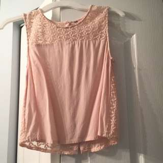 H&M Pink Flower Shirt